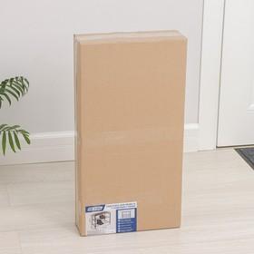 Подставка для обуви с сиденьем, 3 яруса, 65×32×48,5 см, цвет чёрный - фото 4643107