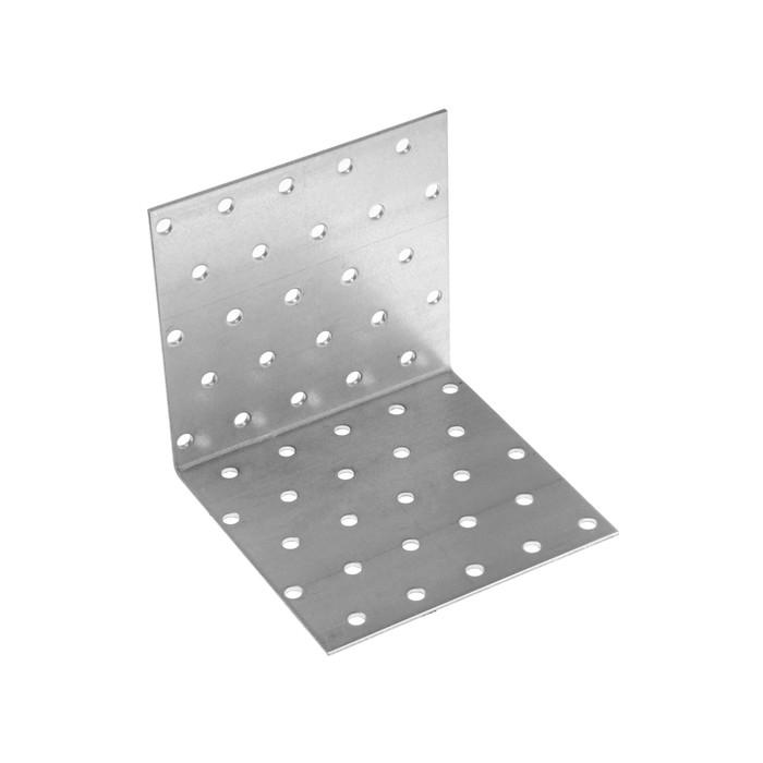 Уголок крепежный равносторонний KUR  100х100х100 цинк, 1 шт.