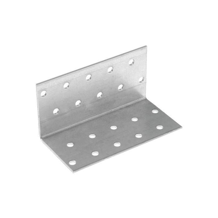 Уголок крепежный равносторонний KUR  50х50х100 цинк, 1 шт.