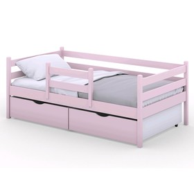 Кроватка Viki, спальное место 160х80 см, цвет розовый, + ящики цвет розовый