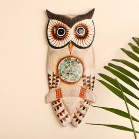 """Mural """"Owl on branch"""" tree 15х1,5h30 cm"""