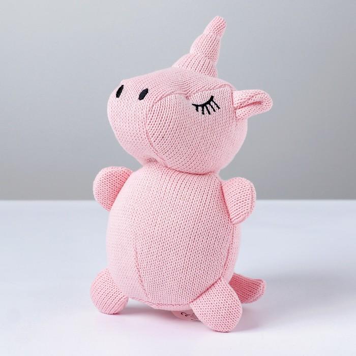 Мягкая игрушка «Единорог», вязаный, цвета МИКС - фото 4467970