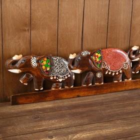 """Picture """"elephants Family"""" tree 100х1,5x18 cm"""