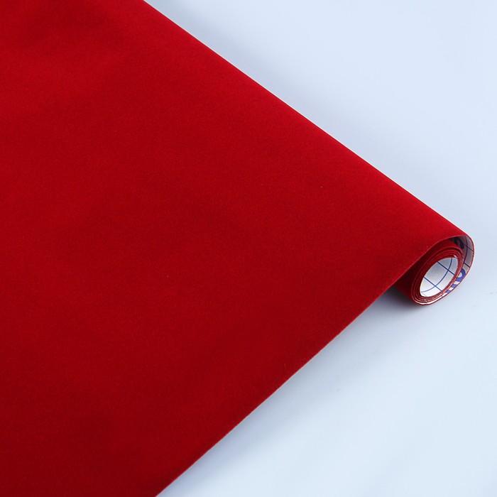 Пленка самоклеящаяся бархатная 0.45 х 1 м Sadipal красная 06708