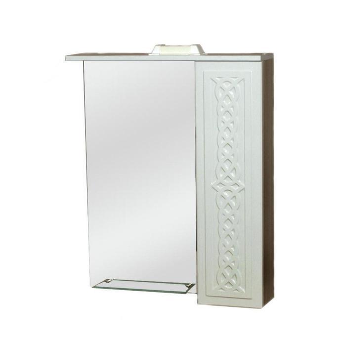 """Зеркало-шкаф """"Александрия002"""" 600 ЛДСП Берёза правое 15,5 см х 60 см х 81,5 см"""