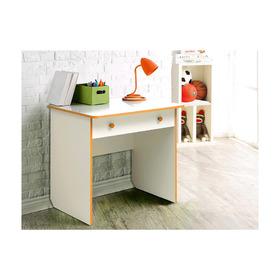 Стол компьютерный №7, 800 × 580 × 750 мм, лдсп, цвет белый / оранжевый