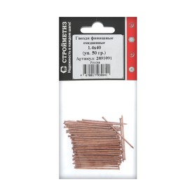 Finishing nails 1,4x40 copper-plated, pkg.50gr.,