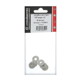 Washer M5 DIN 9021, stainless steel A2 pack. 8 PCs.