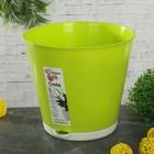 """Горшок для цветов с системой прикорневого полива1,8 л, d=16 см """"Крит"""", цвет салатовый"""