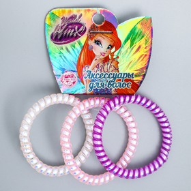 A set of VINKS elastic bands, 3 pcs, mother-of-pearl, 6x5 cm