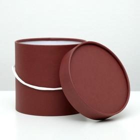 Подарочная коробка, круглая, шоколадная, 15 х 15 см