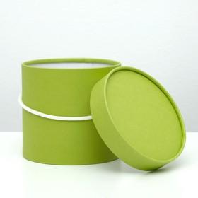 Подарочная коробка, круглая, салатовая, 15 х 15 см