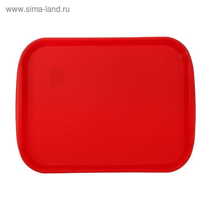"""Поднос пластиковый """"Титан"""", цвет красный"""