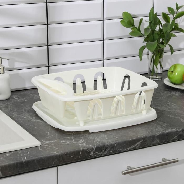 """Сушилка для посуды """"Люкс"""", с поддоном, цвет МИКС"""