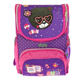 Ранец Стандарт deVENTE Mini 35 х 26 х 20 см, My Bear, фиолетовый/розовый