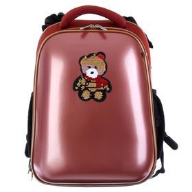 Рюкзак каркасный, deVENTE Choice, 38 х 28 х 16 см, иск кожа Glamour Bear, коралловый