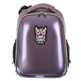 Рюкзак каркасный, deVENTE Choice, 38 х 28 х 16 см, иск кожа Glamour Owl, розовый