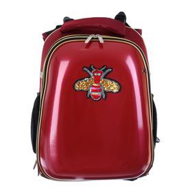 Рюкзак каркасный, deVENTE Choice, 38 х 28 х 16 см, иск кожа Smile, красный