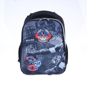 Рюкзак каркасный, deVENTE Choice, 38 х 28 х 16 см, Boxing, чёрный/серый