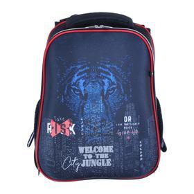 Рюкзак каркасный, deVENTE Choice, 38 х 28 х 16 см, City Jungle, чёрный