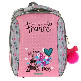 Рюкзак каркасный, deVENTE Cool, 39 х 30 х 19 см, Paris, серый/розовый