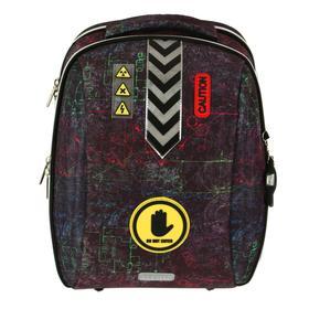 Рюкзак каркасный, deVENTE Cool, 39 х 30 х 19 см, Do Not Enter, чёрный