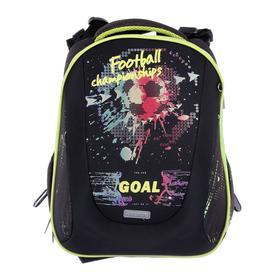 Рюкзак каркасный, deVENTE Sharp, 37 х 30 х 18 см, Football, чёрный