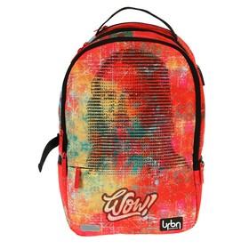 Рюкзак молодежный эргономичная спинка, deVENTE Red Label, 41 х 30 х 17 см, WOW, красный