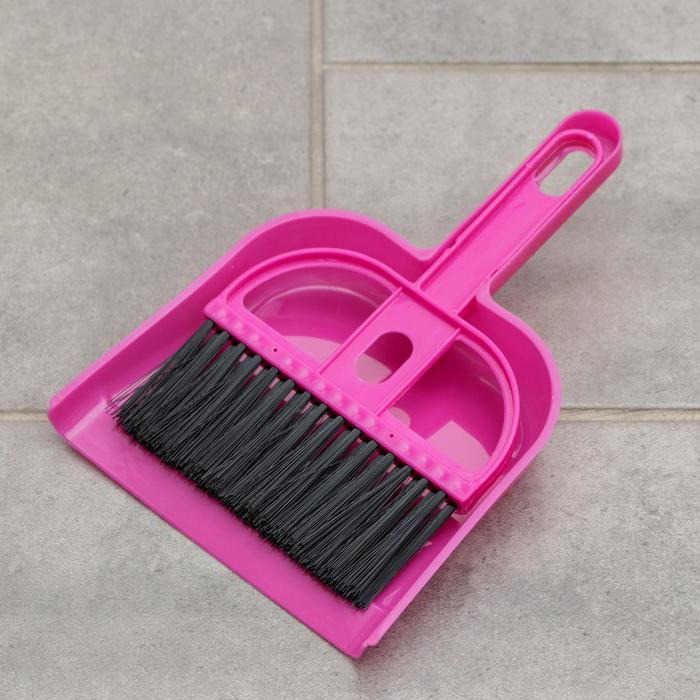 """Набор для уборки """"Чистота"""", 2 предмета: совок, щетка, цвета МИКС"""