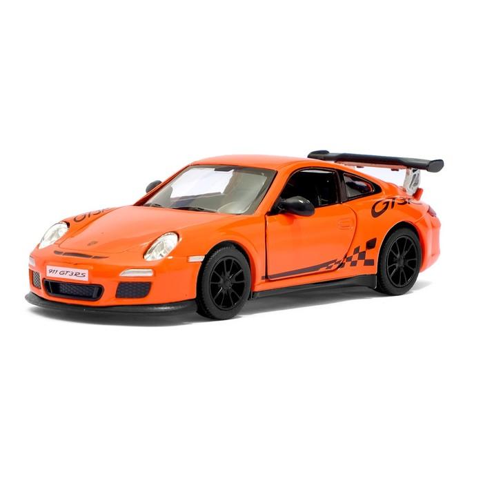 Машина металлическая Porsche 911 GT3 RS, 1:36, открываются двери, инерция, цвет оранжевый - фото 105651155