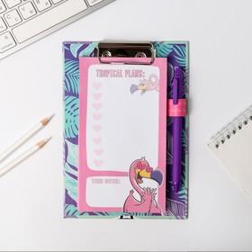"УЦЕНКА Планинг на планшете А5 ""Фламинго"" +  ручка, 50 л"