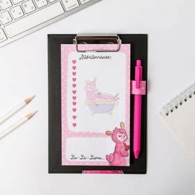 """Планинг на планшете А5 """"Лама"""" +  ручка, 50 л"""