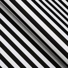 "Paper packing, ""Stripes"", Kraft white, black, 50 x 70 cm"