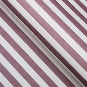 "Paper packing, ""Stripes"", Kraft white, lilac, 50 x 70 cm"