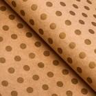 "Paper packing, ""large Peas"", Kraft, gold, 50 x 70 cm"