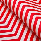 Paper, wrapping, zigzag, white Kraft, red, 50 x 70 cm