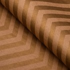 Paper, wrapping, zigzag, Kraft, gold, 50 x 70 cm