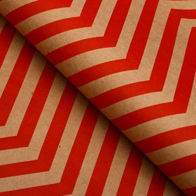 Paper, wrapping, zigzag, Kraft, red, 50 x 70 cm