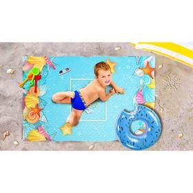 Пляжное покрывало «Морское лето», размер 90 × 140 см