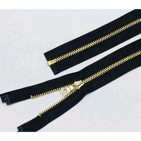 Молния для одежды, №3ТТ, разъёмная, 75 см, цвет чёрный
