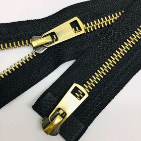 Молния для одежды, №5ТТ, 80 см, цвет чёрный