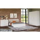 Спальня «Венера», кровать 1600 ? 2000 мм, шкаф 3-х дверный, комод, цвет белый матовый