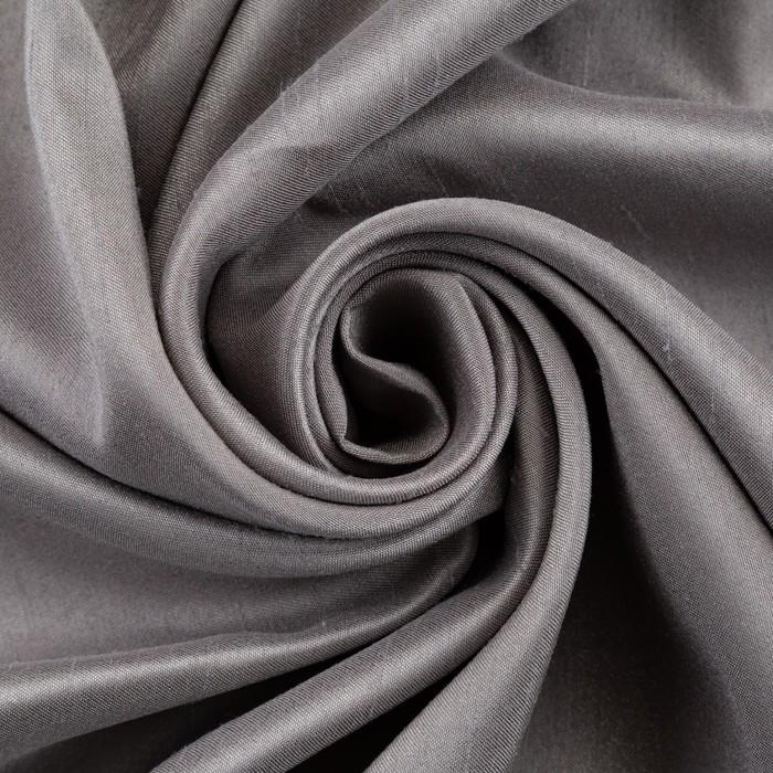 """Ткань портьерная """"Дамаск"""" PEWTER SOLID, ш.280, дл 10м, пл. 160 г/м2,100 % п/э"""