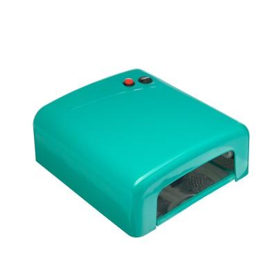 Лампа для гель лака Luxury, UV, 36 Вт, таймер 120 сек, бирюзовая