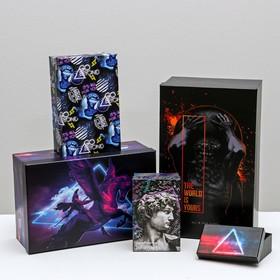 Набор подарочных коробок 10 в 1 «Неон», 12 × 7 × 4 - 32.5 × 20 × 12.5 см