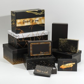 "Set of gift boxes 10 in 1 ""Happiness"", 12 × 7 × 4 - 32.5 × 20 × 12.5 cm"