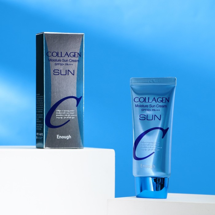 Увлажняющий солнцезащитный крем с коллагеном ENOUGH Collagen Moisture Sun Cream SPF50+ PA+++, 50 мл