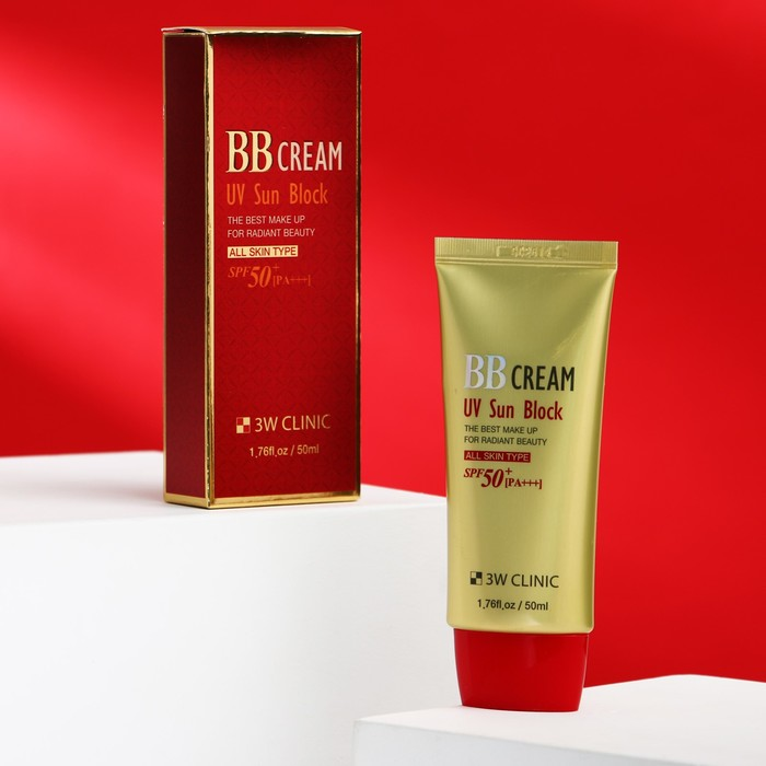 Солнцезащитный ВВ крем 3W CLINIC UV Sun Block BB Cream SPF50+/PA+++, 50 мл