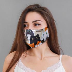 """Textile mask """"Seals"""""""