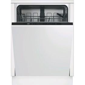 Посудомоечная машина Beko DIN14R12, встраиваемая, класс А, 13 комплектов, 11.5 л